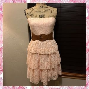 Rue21 Dresses & Skirts - Price⬇️Pink Strapless Lace Dress💋