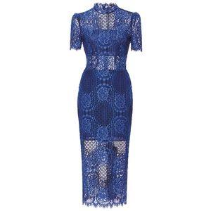 alexis Dresses & Skirts - New Alexis Delila Blue lace midi dress