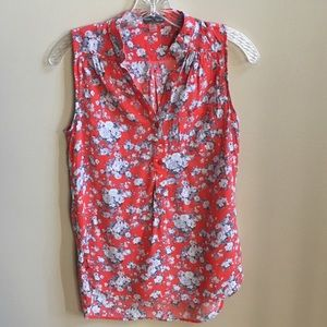 Market & Spruce Tops - Market and Spruce Floral Sleeveless Blouse Small
