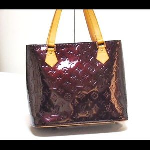 Auth Louis Vuitton Amarante Vernis Houston Tote
