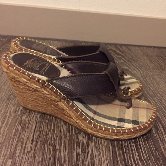 2acb2f602a6 Burberry Shoes - Burberry Thong Sandal Espadrilles Wedges