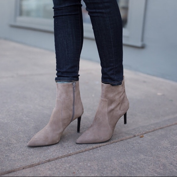 Banana Republic Suede Pointed Toe Ankle
