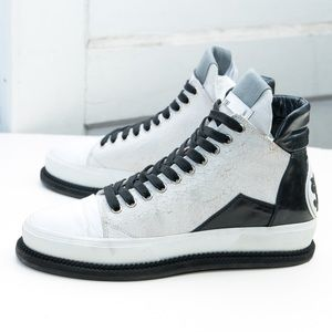 Arvid Yuki SHY two-tone high-top sneaker