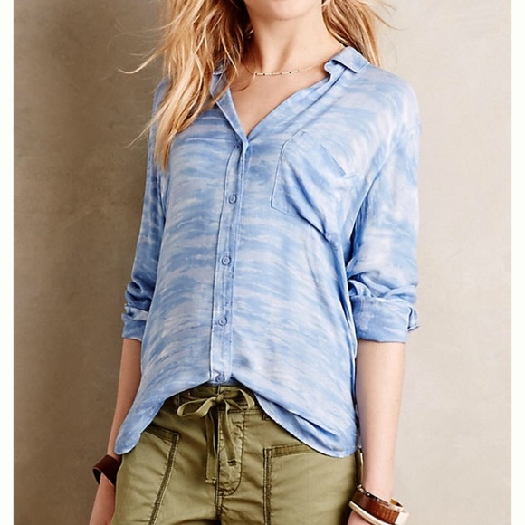 e731dad79849 Anthropologie Tops - Anthropologie Sky Blue Blouse by Cloth & Stone XS