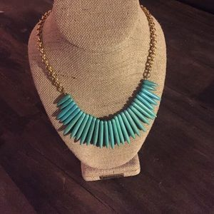 David Aubrey gorgeous spiked turquoise necklace