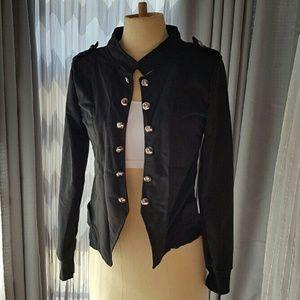 Jackets & Blazers - BLACK MILITARY JACKET -BNWT