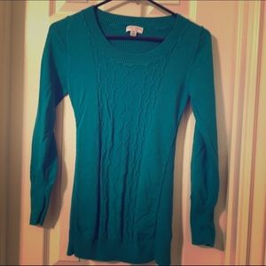 Teal maternity sweater