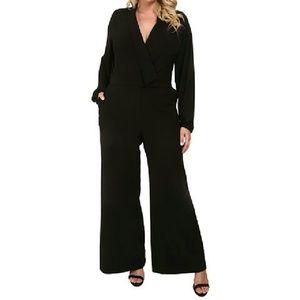 MYNT 1792 Pants - MYNT 1792 Sheer-sleeve Black Jumpsuit