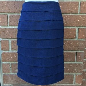 Larry Levine Dresses & Skirts - Denim Layered Skirt