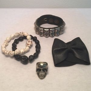 Jewelry - Skull, Edgy Jewelry Bundle