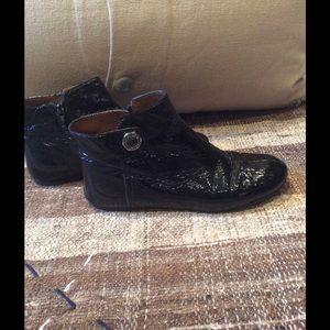 Marc Jacobs Shoes - Marc Jacobs Logo Stud Black Flat Ankle Boots