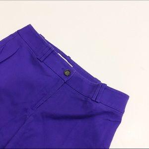 LOFT Julie straight fit purple ankle pants