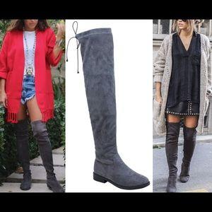 Leoninus  Shoes - 🏆HOST PICK🏆Low Heel Over-the-Knee Boots Grey