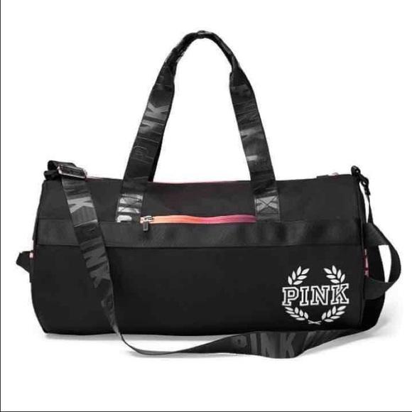 74efd83d4bd6 VS PINK Pure Black Gradient Gym Duffle Bag