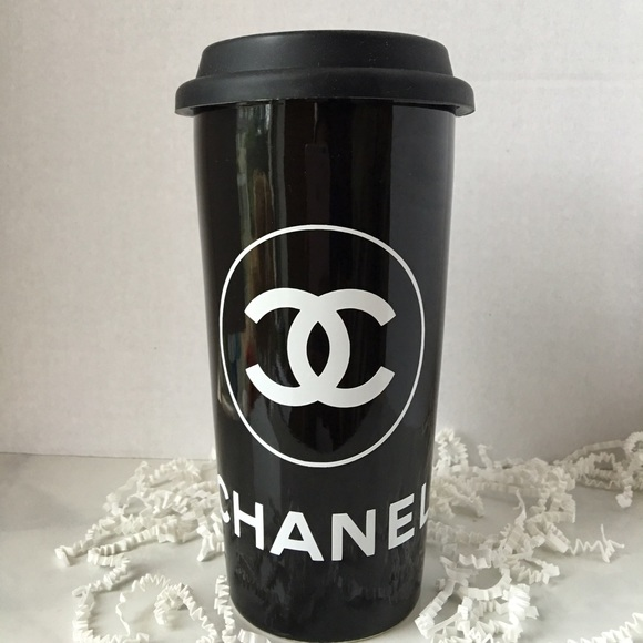 8429f655511 Accessories | Chanel Black Travel Mug Coffee Tumbler | Poshmark