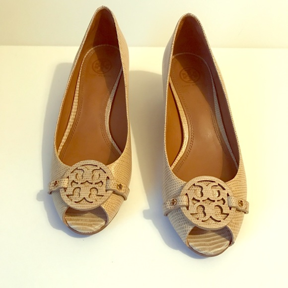 9be24d3782a Tory Burch Mini Miller Open Toe Wedge