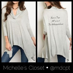 Cowl neck tunic • Made in 