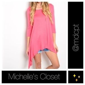 Coral tunic NWOT 