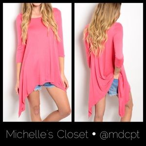 Coral tunic • Made in 