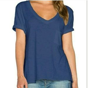 Free People 757 Tee in Navy