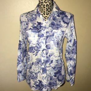 Ralph Lauren Floral Button Down Top