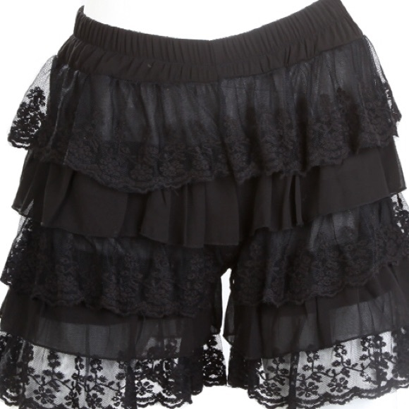 70% off sassy bling pants - black lace shorts plus size from