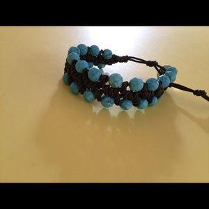 Chan Luu Jewelry - Chan Luu leather bracelet turquoise beads