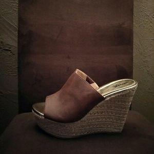 Shoes - Espadrille Wedge Heels