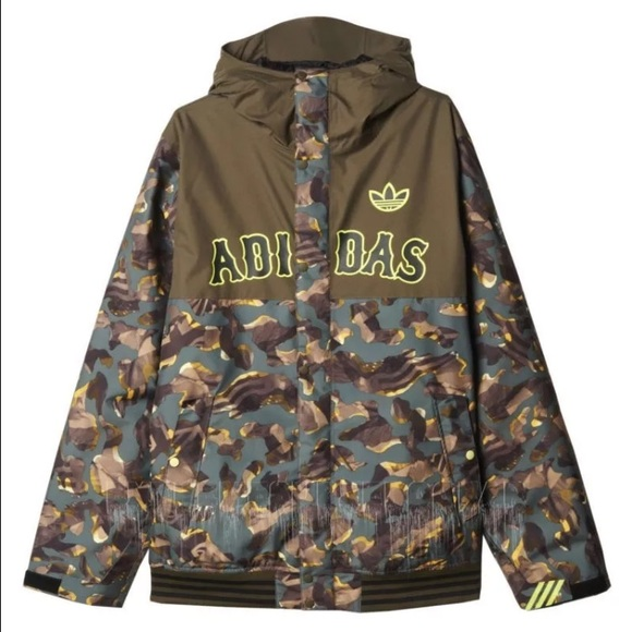 Adidas Originals Mens Greely Camo Jacket NWT
