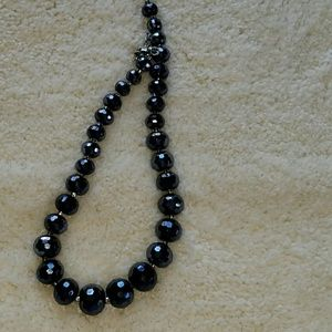 COOKIE LEE SPARKLY BLACK NECKLACE