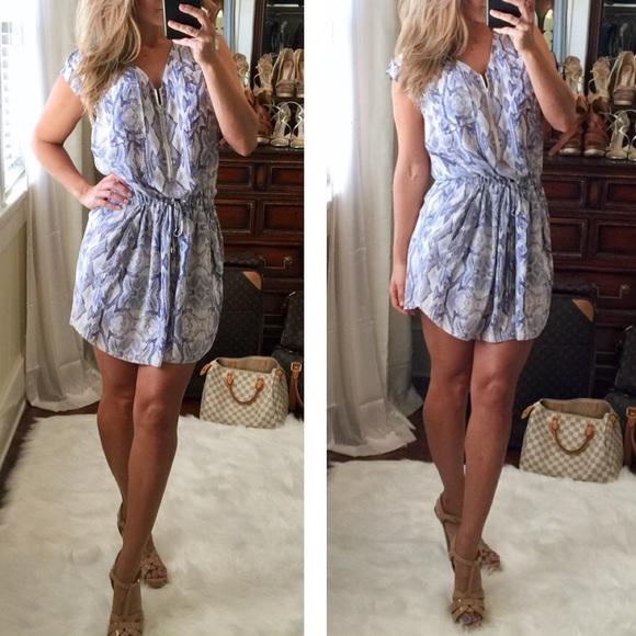 82b6445a28b985 Rebecca Taylor purple silk snake skin print dress.  M 5823585fd14d7b4920074fa9