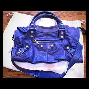 Balenciaga Giant Leather Bag Blue