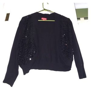 Black Sparkly Sequined Cardigan