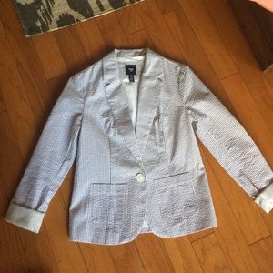 GAP Jackets & Blazers - Gap Grey/White Seersucker Blazer sz 0