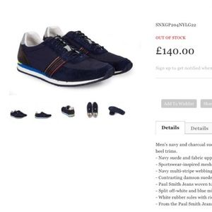 Paul Smith Other - 🍂PAUL SMITH MOOGG GALAXY SUEDUE & FABRIC TRAINERS