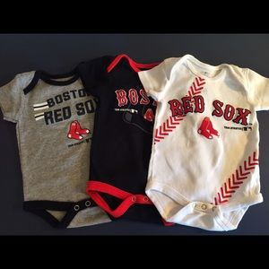 Baby Fanatic Other - 3-pack Red Sox Bodysuits
