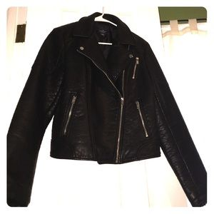 Vegan Leather Moto Jacket
