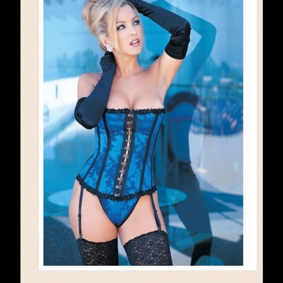 4278d7173 Lingerie Satin Boning Corset With Panty. Boutique. Shirley Of Hollywood