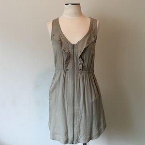 Ladakh Dresses & Skirts - Ladakh- Soft Olive Zip Dress Size 6