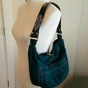 Handbags - Tylie Malibu teal suede hobo bag