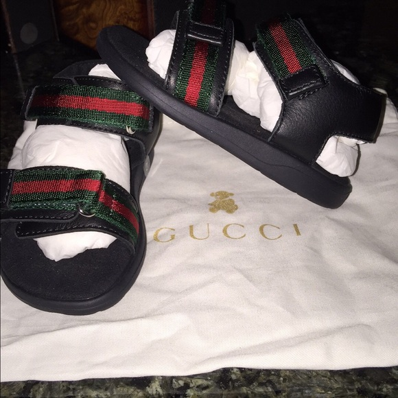 b26a865a131 Toddler boys Gucci sandals brand new never wore