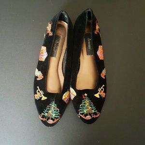 Vintage Shoes - Christmas flats