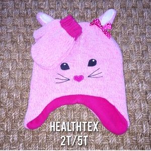 Healthtex Other - Healthtex Pink Bunny Hat And Mittens Set 2T/5T NEW
