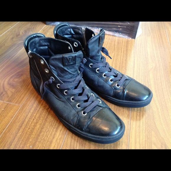 d4055c94cb40 Louis Vuitton Other - LOUIS VUITTON Damier Men s High Top Sneakers 11