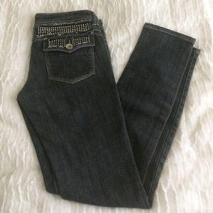 Imperial Star Denim - Rhinestone Skinny Jeans