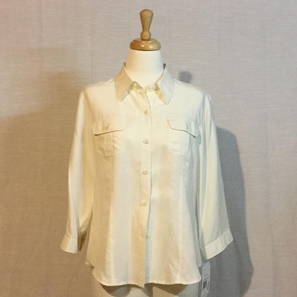 ab5ceb947a0b2e 100% Silk Blouse. Vintage. NWT. NWT. Liz Claiborne