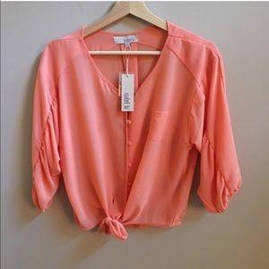 isabel lu Tops - NWT Isabel Lu coral blouse