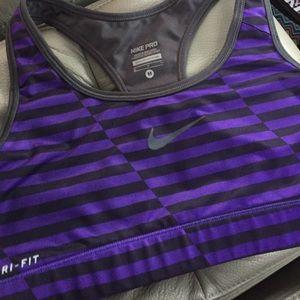 b61d06e33b Nike Intimates   Sleepwear - Nike dri fit sports bra purple black M medium