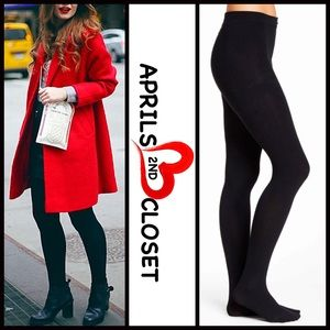 HUE Accessories - HUE BLACK SWEATER TIGHTS