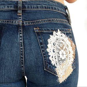 ABS Allen Schwartz Denim - ABS by Allen schwartz crochet detail jeans